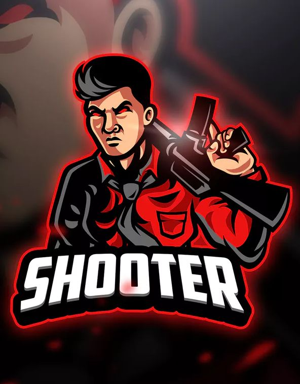 Shooter - Mascot & Esport Logo Template AI, EPS