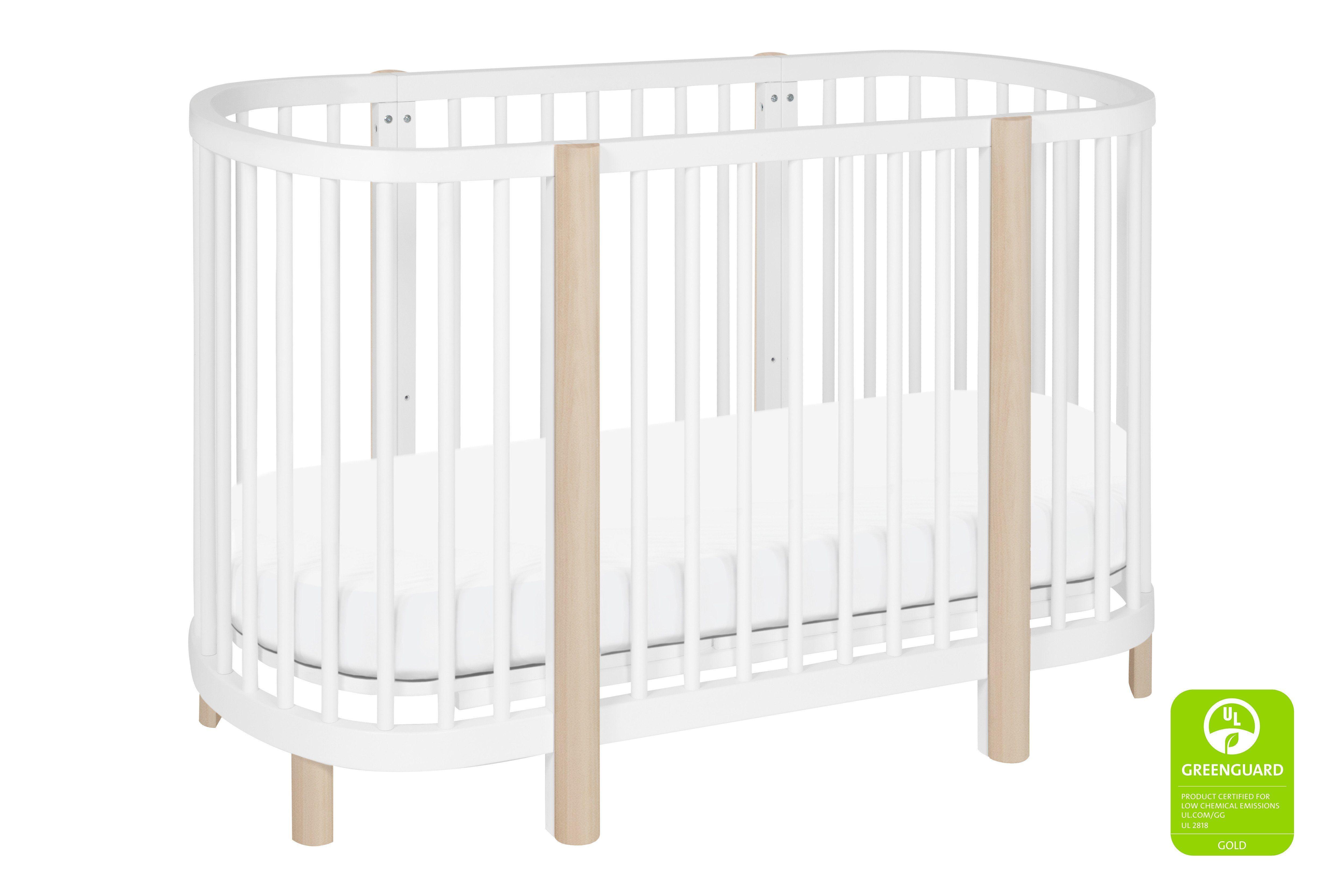 Hula Oval Convertible Crib With Mini Bassinet Conversion Oval
