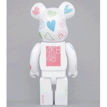 Amazon.com: BE @ RBRICK Bearbrick AKB48 100% (japan import): Toys & Games