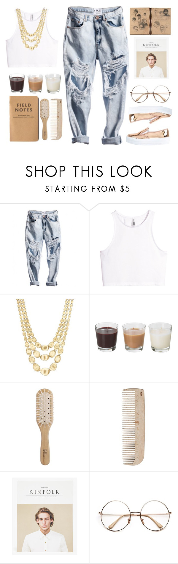 """""""029"""" by lesliekagengele on Polyvore featuring mode, H&M, Marco Bicego, Philip Kingsley, HAY et River Island"""