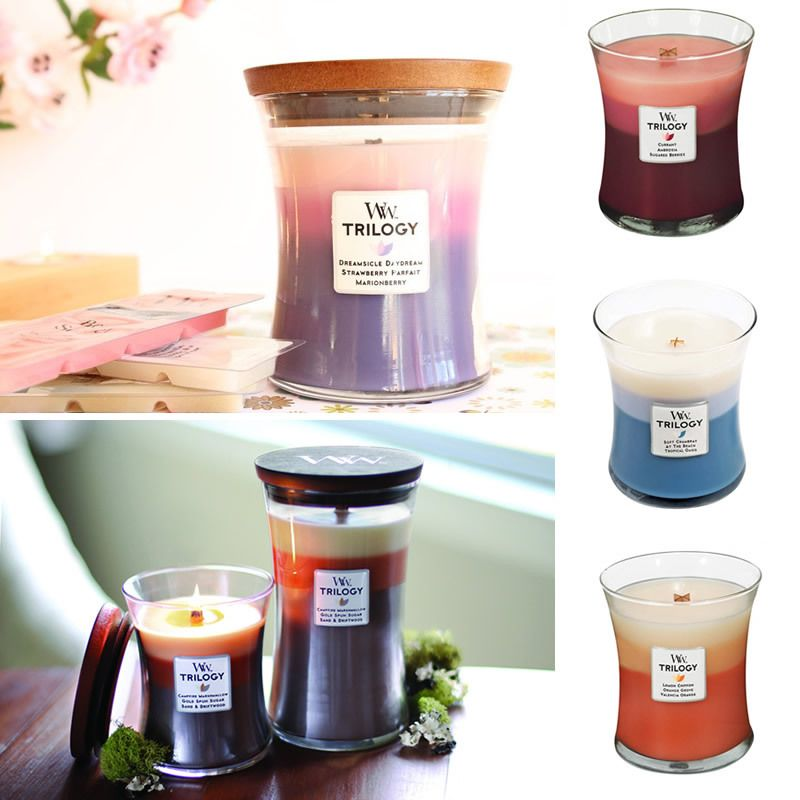 Woodwick Triology Candle | Woodwick, Candles, Plant nursery
