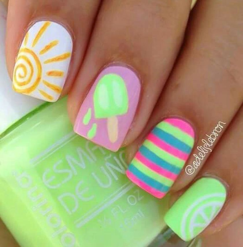 Adorable Cute Nail Art For Girl Kids That You Must Try Nail Designs Nails For Kids Summer Nails