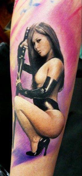 031ba3103 Woman tattoo by Adam Kremer | Pin-up tattoos | Tattoos for women ...