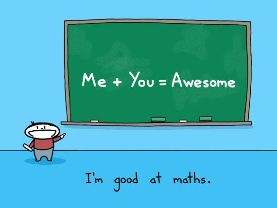 Me Plus You Art Print | Math, Printing and Humor