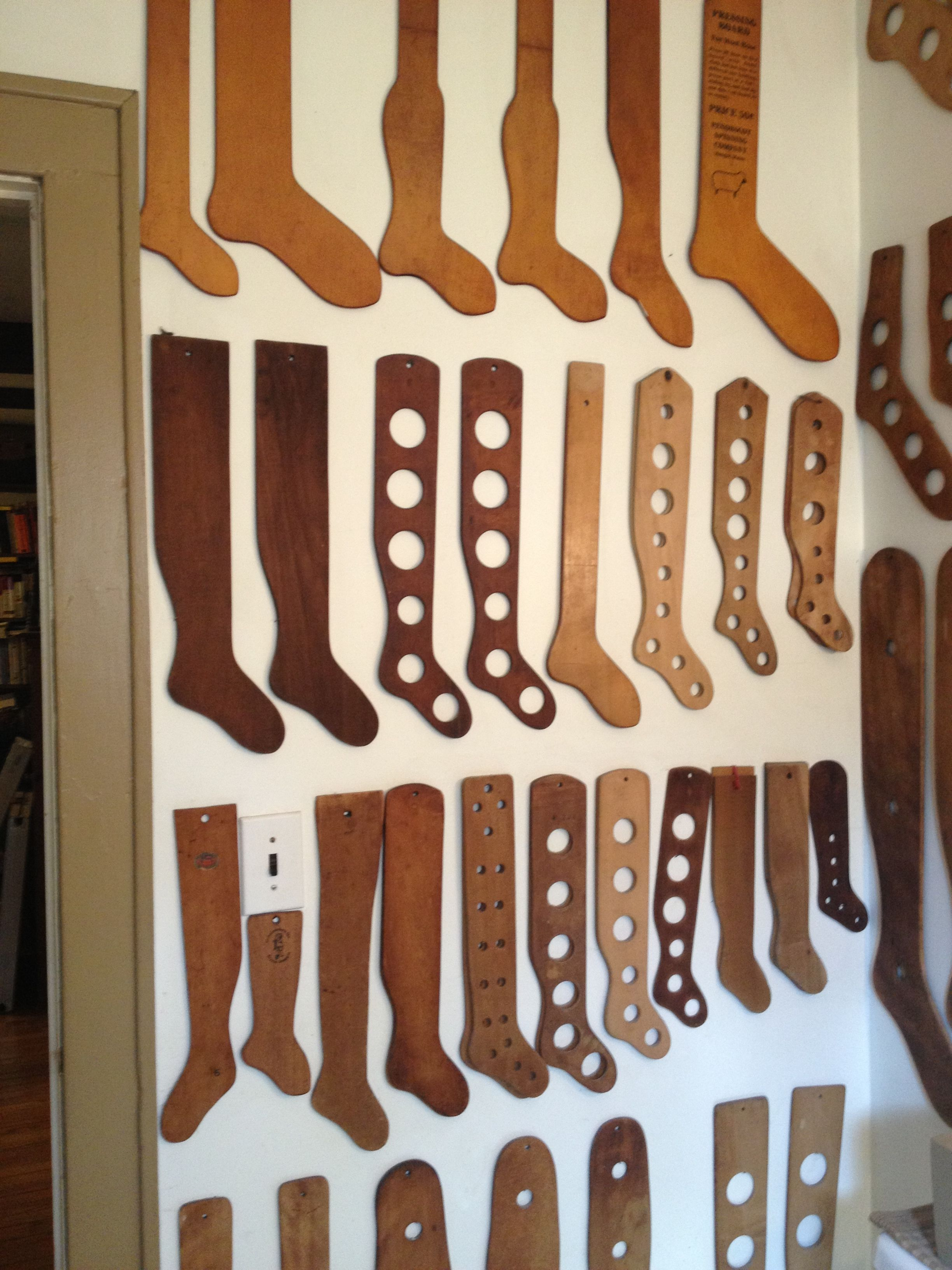 """A Collection of Vintage """"Wooden Sock Stretchers""""."""