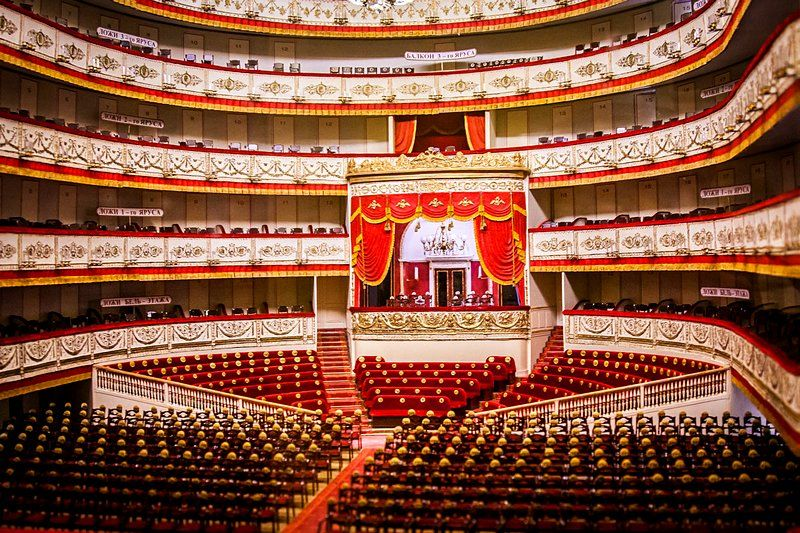 Main Stage Of The Alexandrinsky Theatre In St Petersburg Russia