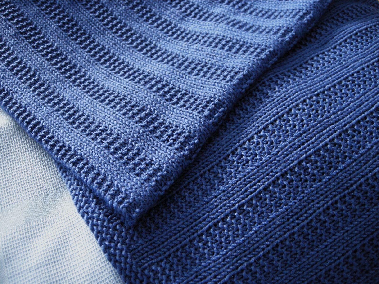 Ravelry: Garter Rib Baby Blanket pattern by Orange Flower Yarn ...