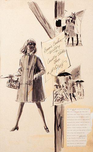 Fashion Illustration by Dorothy Hood