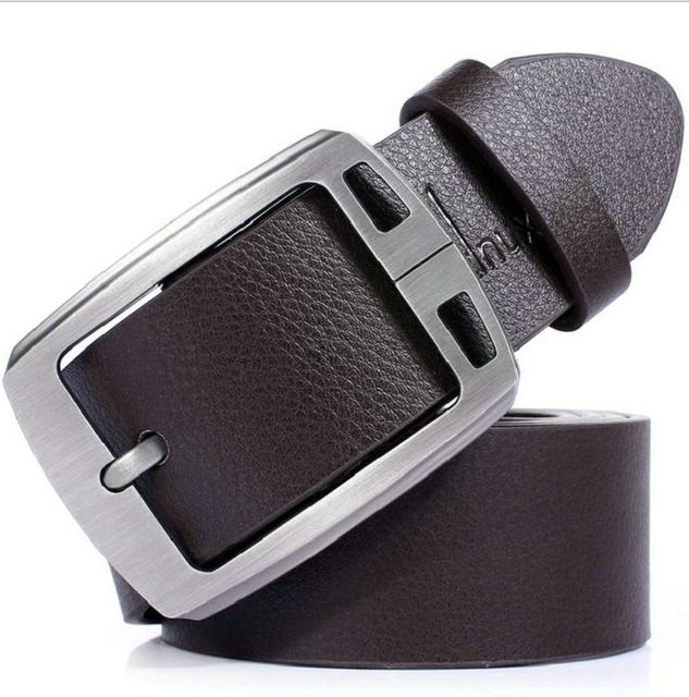 Dnuxlou business leisure wide faux pu leather belt men belts shining metal buckle 125cm cinto ceinture homme