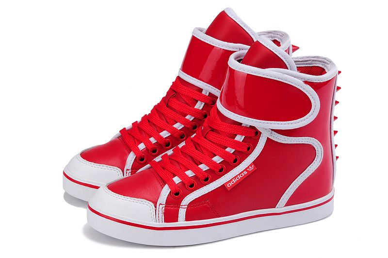 red and white adidas shoes high tops | Eczema