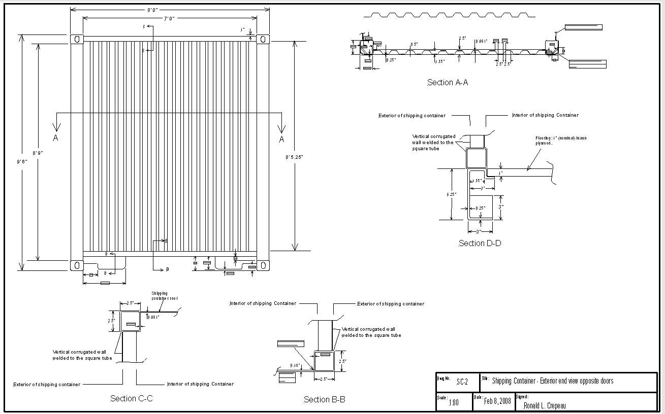 Best Kitchen Gallery: Shipping Container Cad Drawing Container Apartments Pinterest of Intermodal Container Drawings on rachelxblog.com