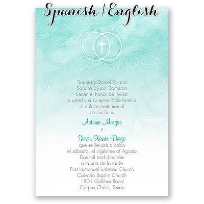 hispanic wedding invitations I amor y fe I print your wording in