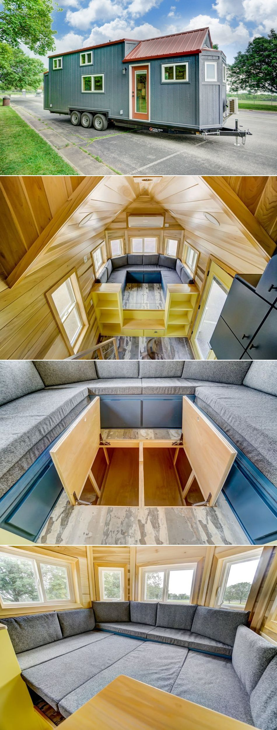 Modern Tiny Living's Serenity Tiny House Features Office with Back Door
