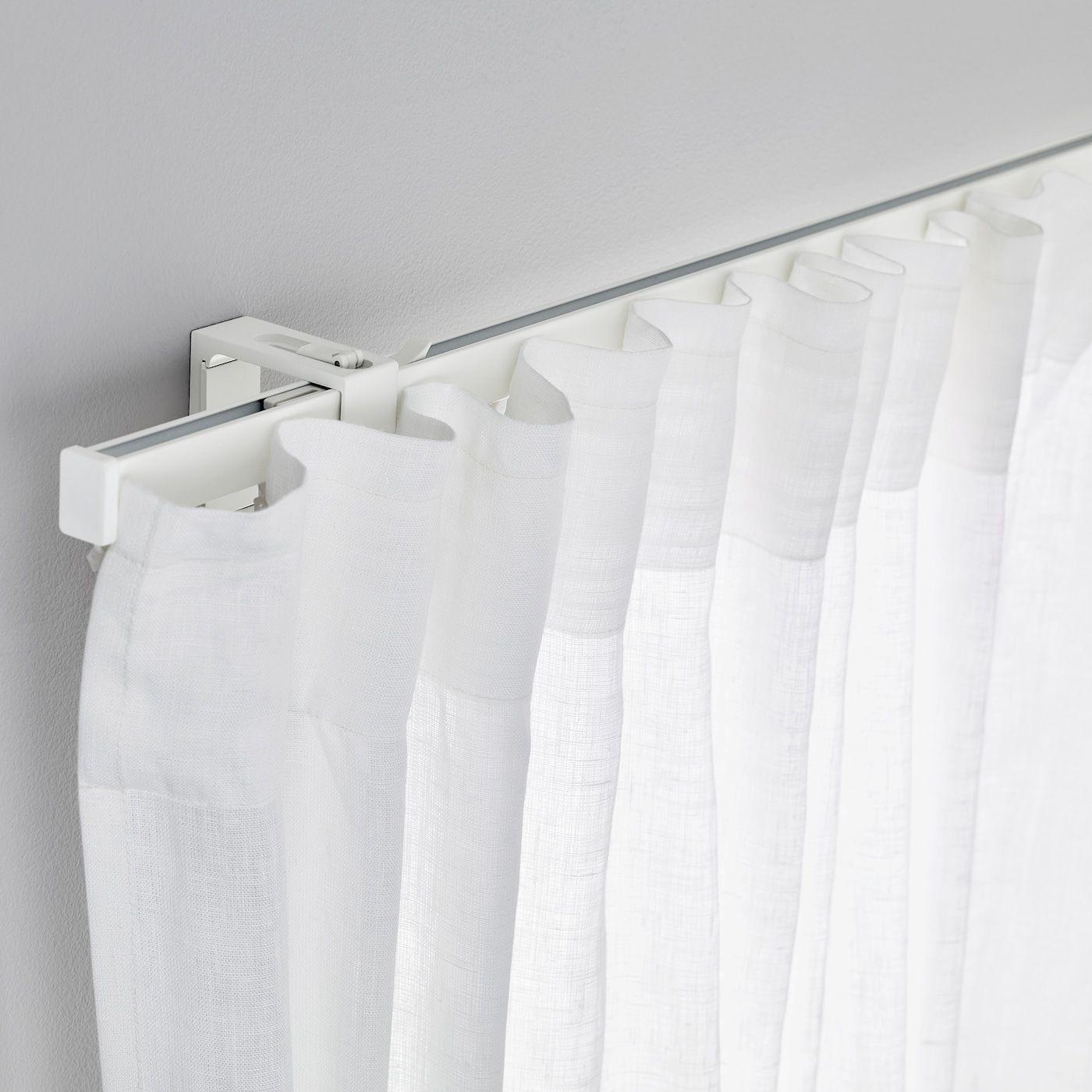 Support Tringle Rideau Ikea ikea - vidga single track rail white in 2020 | curtains
