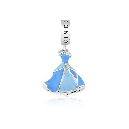 14dafb27222 Pingente Prata Vestido Cinderela - Princesas - Life Moments Moments ...