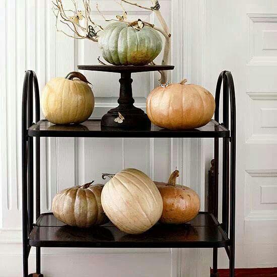 Metallic pumpkins Love them!!!! Creative Halloween Ideas - menards halloween decorations