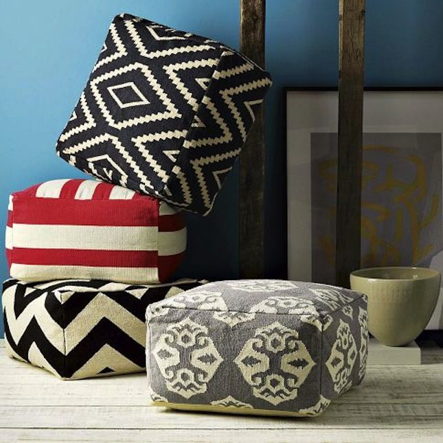 Turn A 40 IKEA Floor Mat Into Giant Poufs With This Hack To Make Magnificent Urban Foundry Pouf