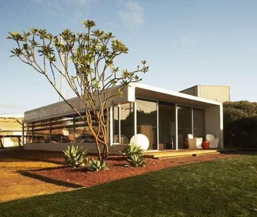 Green Prefab House, Designed By Jean Mic Perrine, Perth, Australia.  Earthquake And Cyclone Resistent. Precast Concrete House Can Be Built In 3  Days