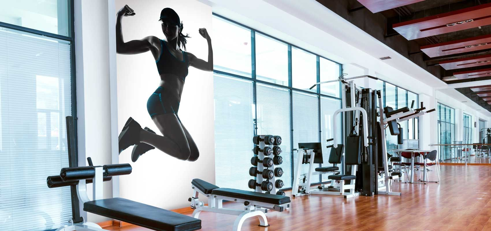 Image result for weight training mural mural gym