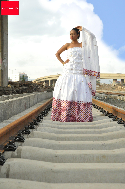 Ethiopian modern wedding dress Habesha dress Ethiopian clothing ...