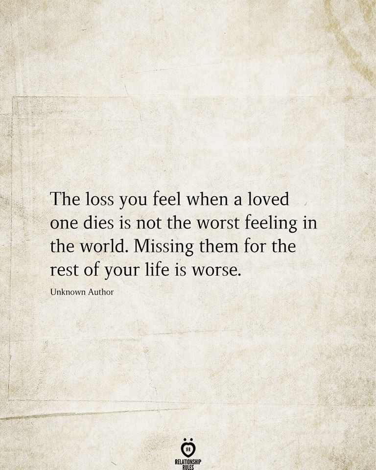 The Loss You Feel When A Loved