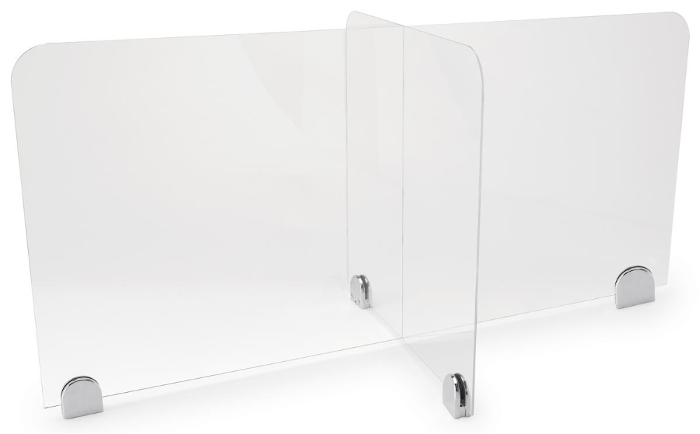 44 L X 22 W X 20 H Multi Section Acrylic Table Divider Clear In 2020 Desk Dividers Acrylic Table Divider