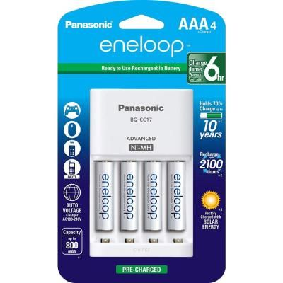 Panasonic Eneloop Advanced Individual Cell Battery Charger Pack With 4 Aaa Eneloop 2100 Cycle Rechargeable Batteries Included Pkkj17m3a4ba The Home Depot In 2021 Rechargeable Batteries Panasonic Battery Charger