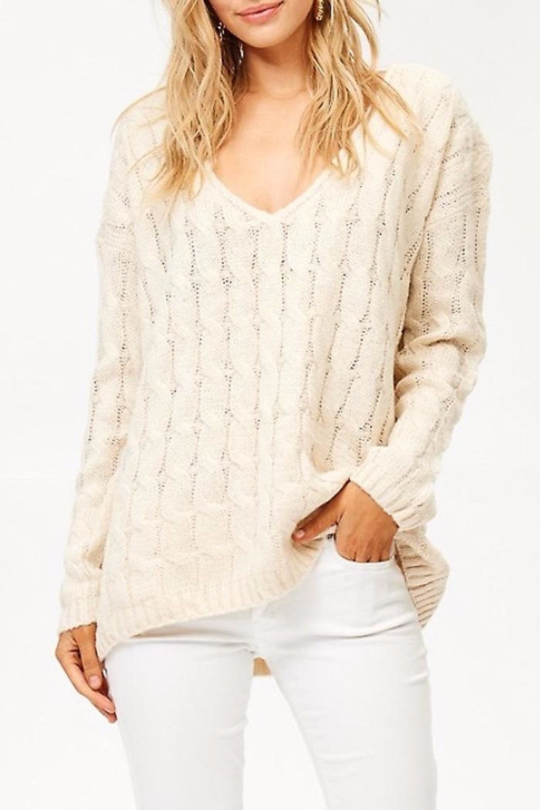 v Neck Knit Sweater in 2020 | Pullover, Fuzzy pullover, Sweaters