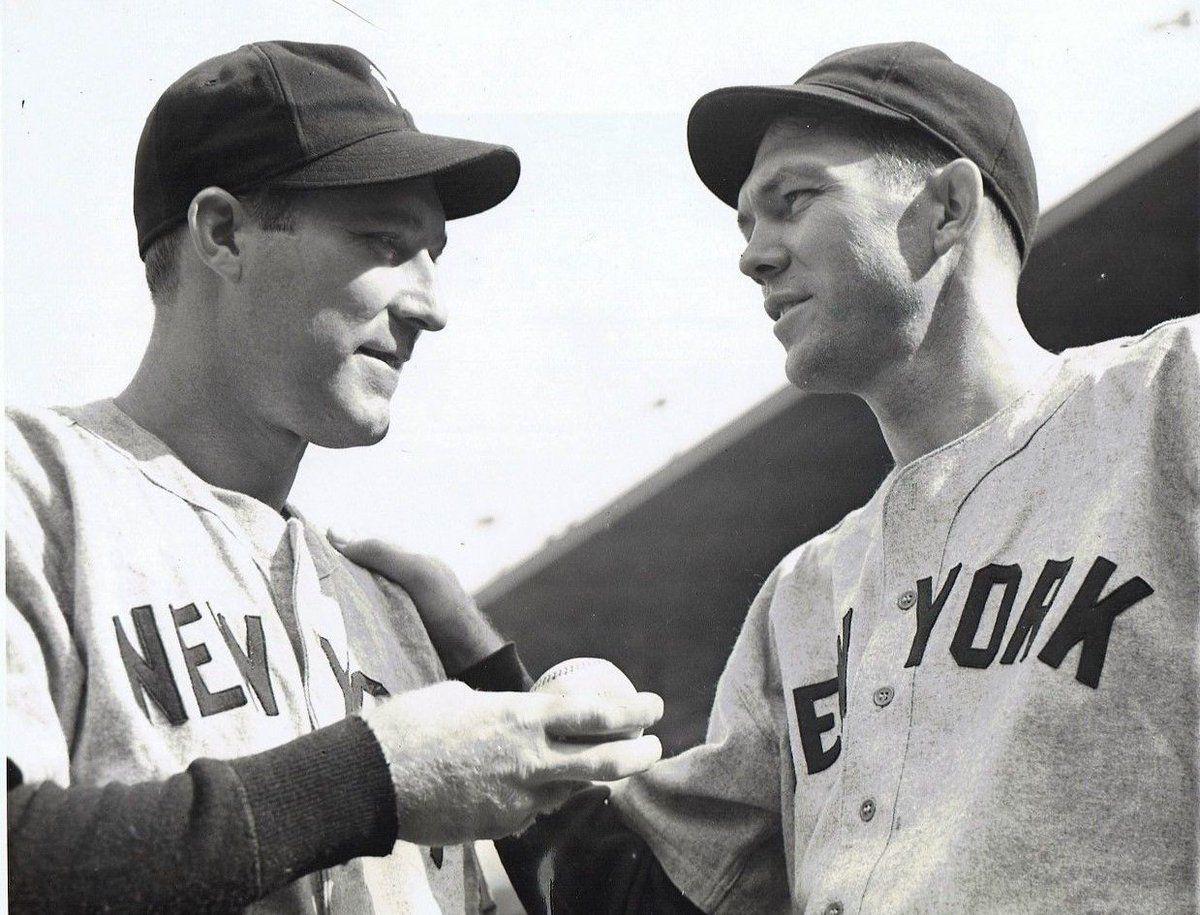 Red Ruffing and Bill Dickey. | Baseball photos, Baseball history, New york yankees