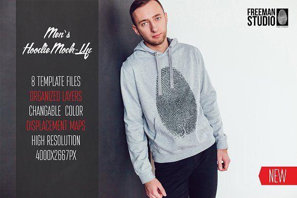 Download Men S Hoodie Mock Up Hoodies Men Printed Sweatshirts Hoodie Mockup