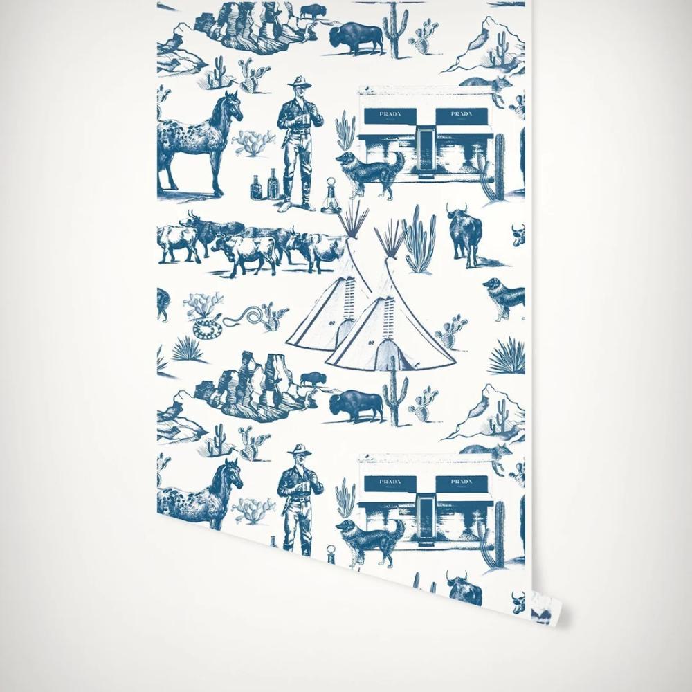 Marfa Toile Peel Stick Wallpaper In 2020 Toile Wallpaper Katie Kime Wallpaper Katie Kime
