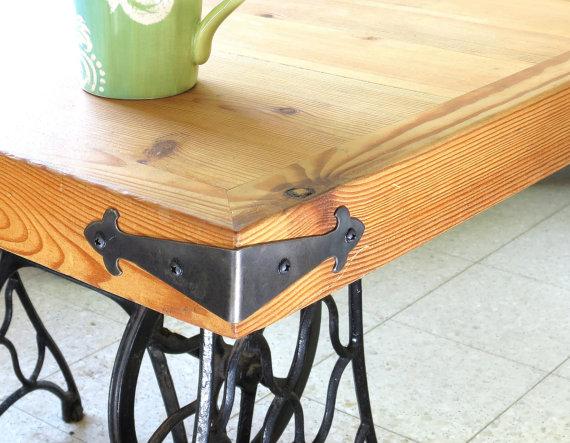 2 DECOR CORNER BRACES small Wrought Iron Angle Plates Furniture ...