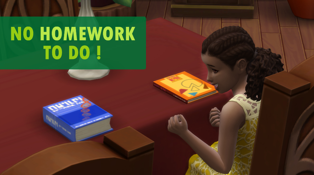 Mod The Sims No Homework To Do Always Complete 100 University Too Sims Sims 4 Homework