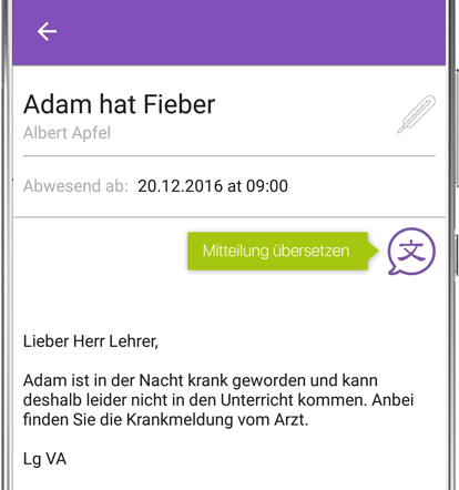 Elterntext-App