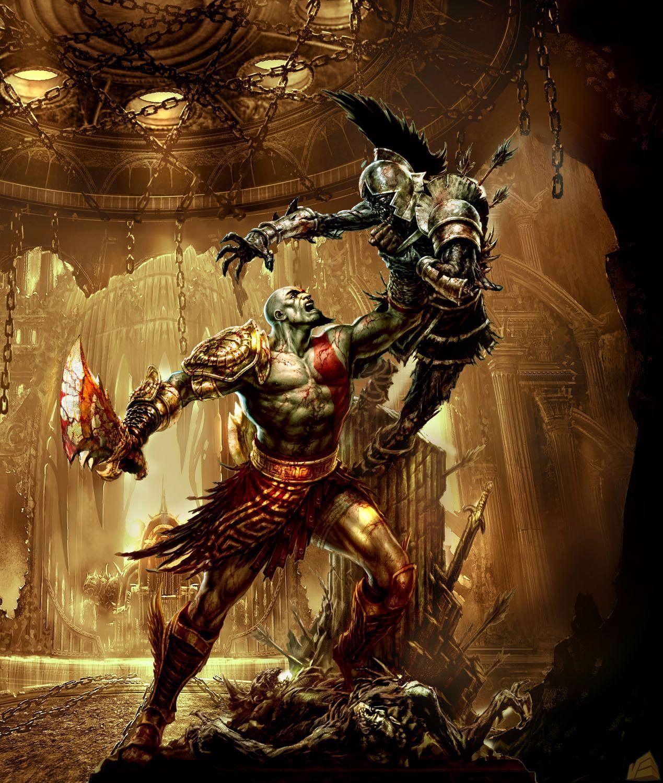 God Of War 3 Official Concept Art Kratos God Of War God