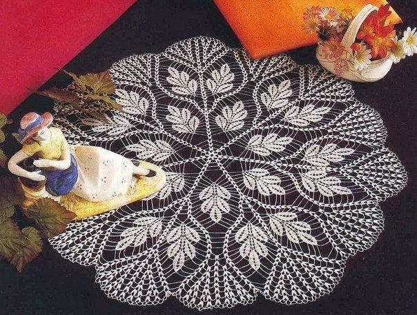 Delicadezas en crochet gabriela centro de mesa caminos - Centros de mesa de ganchillo ...