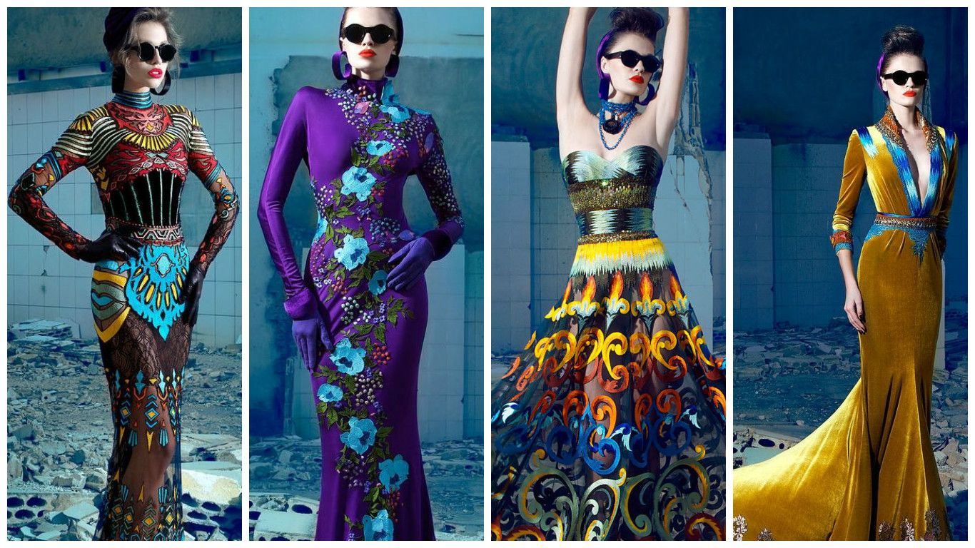 Bold color and print dress inspirationred carpet pinterest