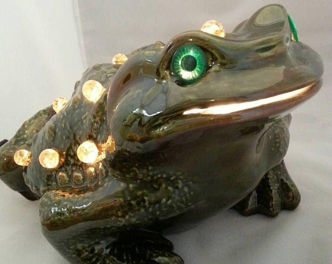 Frog Lamp Accent Lighting Tv Lamp Vintage 1960s.