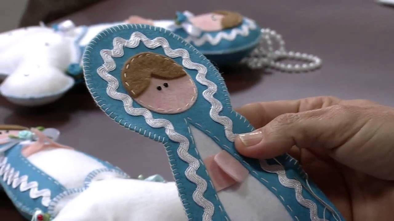 Mulher.com 30/08/2013 Carla Picchi - Nossa Senhora das Graças em feltro