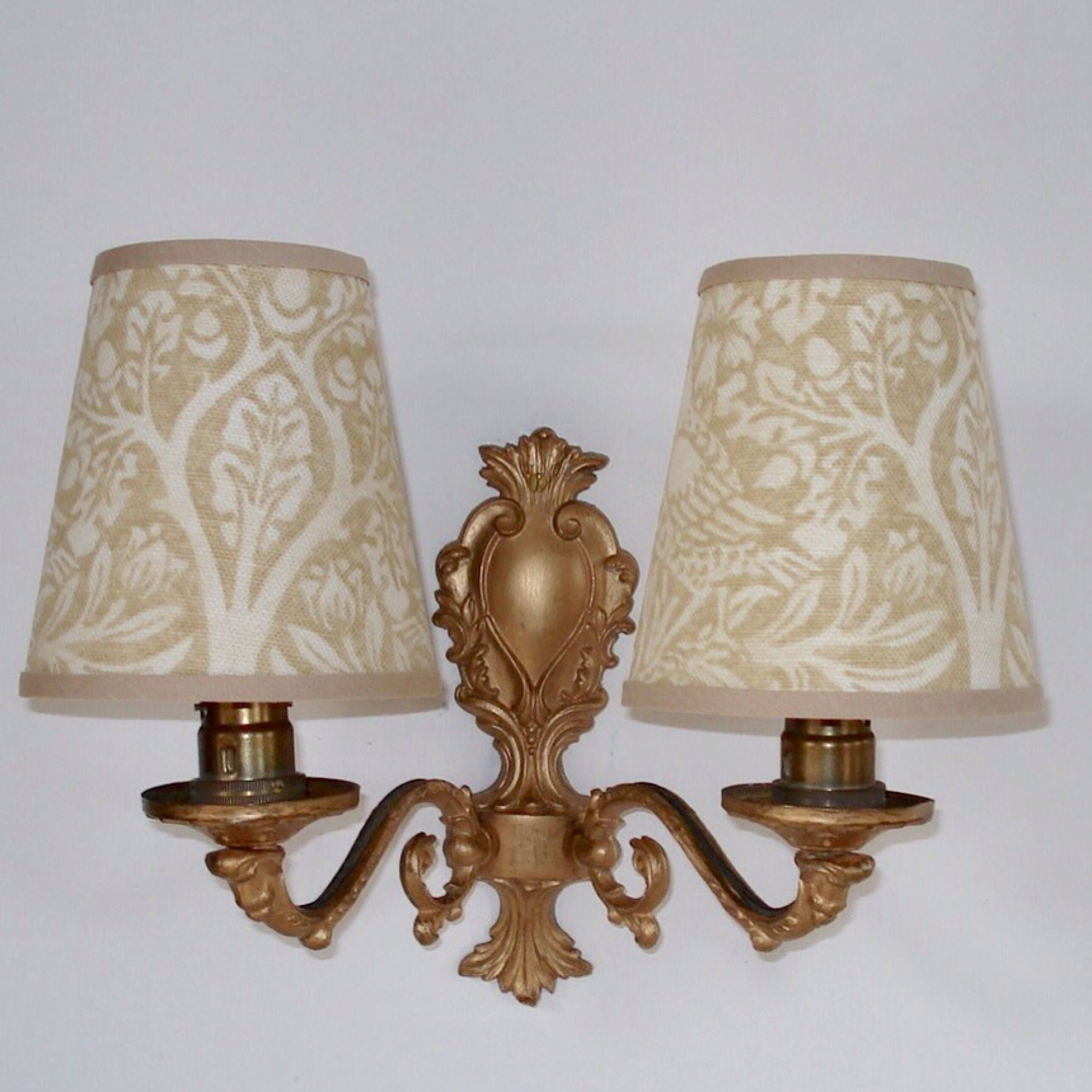 William Morris Brer Rabbit Small Handmade Candle Clip Lampshade For Wall Lights Chandeliers By Lampshadelivi Wall Lights Handmade Candles Chandelier Lighting
