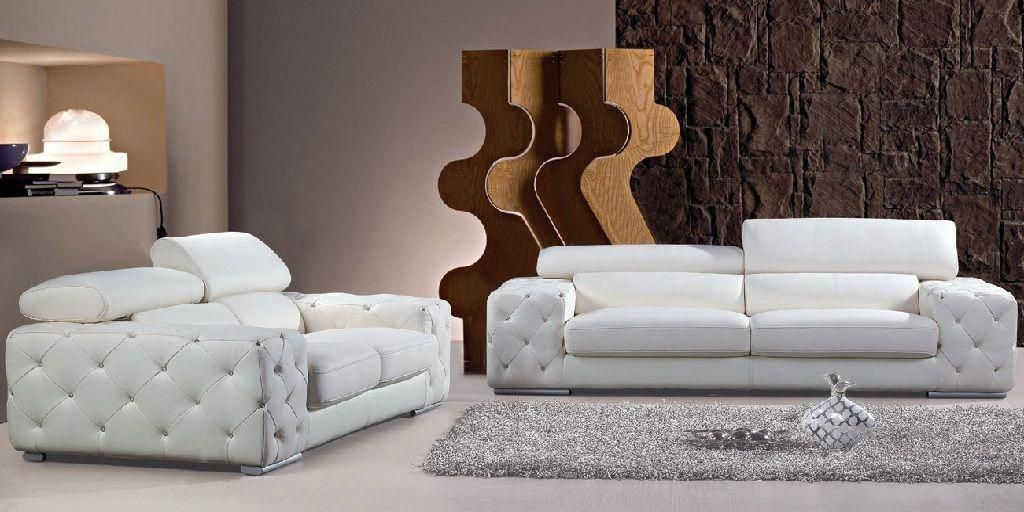 White Modern Leather Sofa Set In 2020 Sofa Set Best Leather Sofa