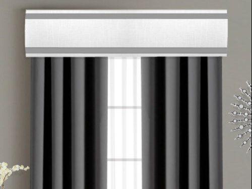 Ribbon Cornice Board Pelmet Box Window Treatment In White