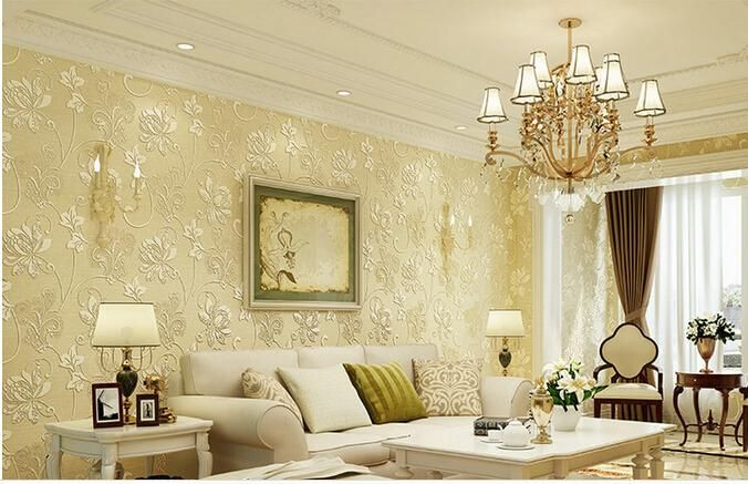 Non-woven 3D embossed wallpaper the new fashion modern European ...