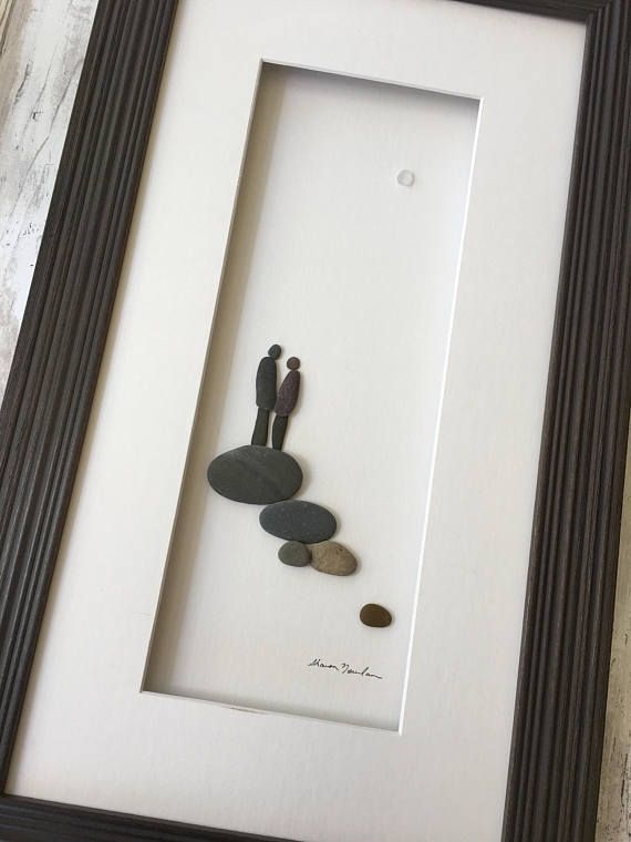 Pebble Art and sea glass Art by Sharon Nowlan This piece is ...