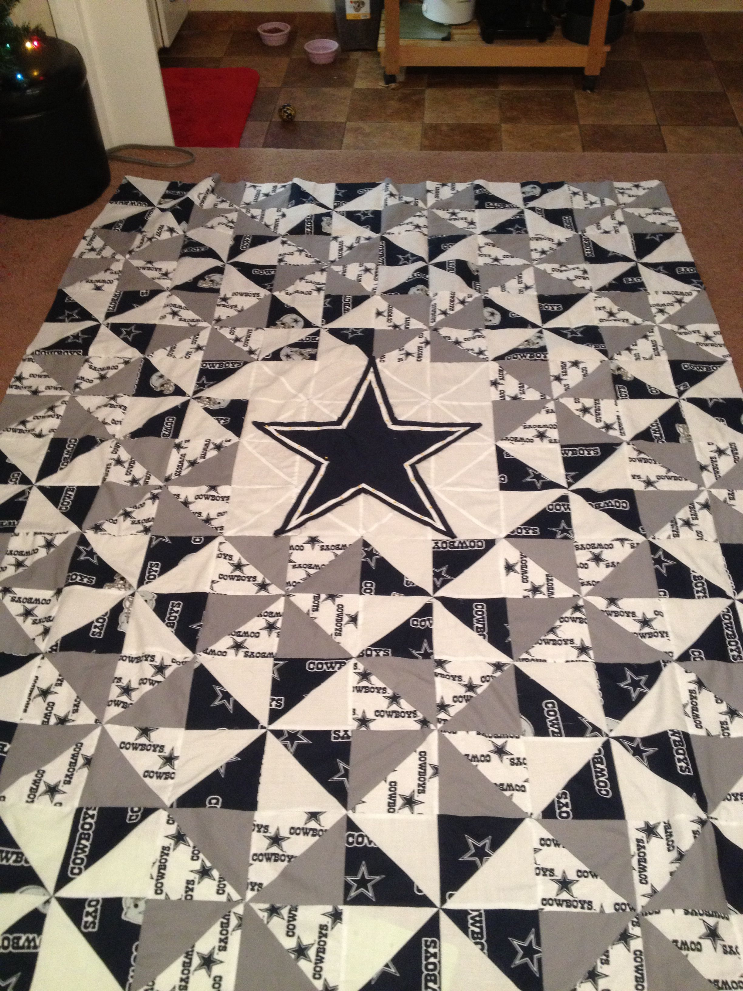 For Chandler Homemade Dallas Cowboys Quilt Made For My