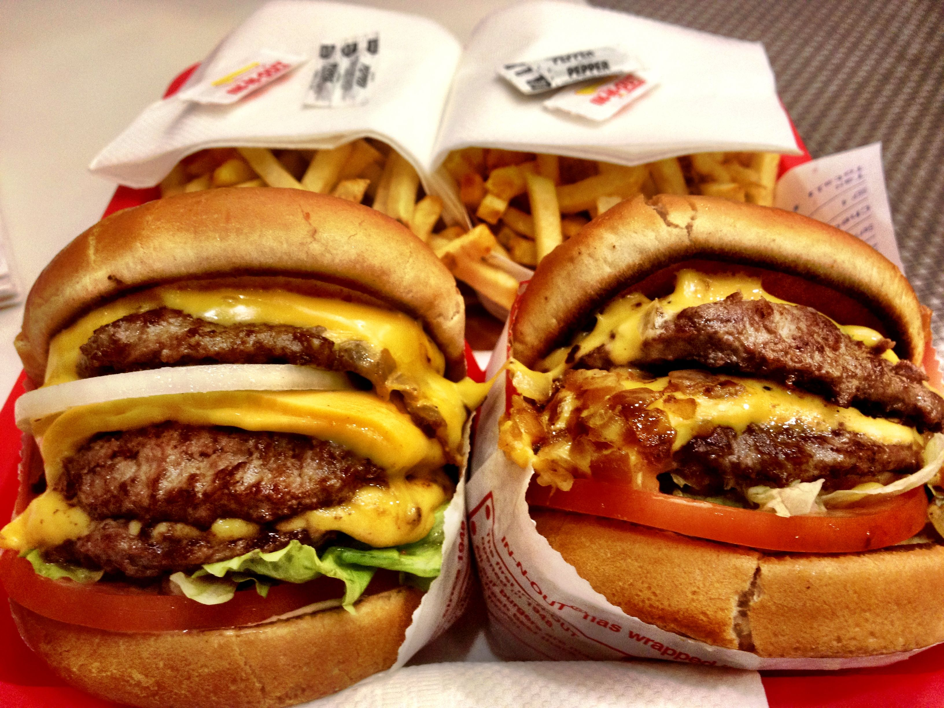 In-N-Out 3x3 and Double Double | Food & Beverage | Pinterest ...