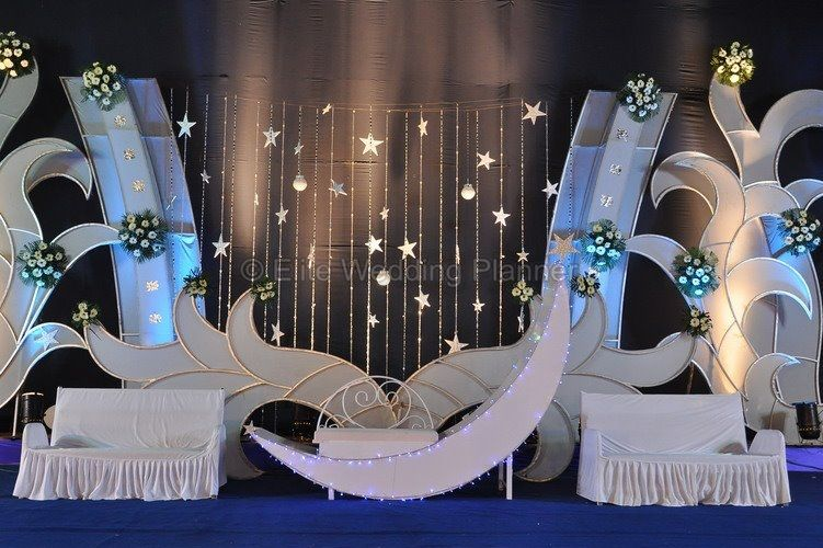 moon theme wedding stage decoration