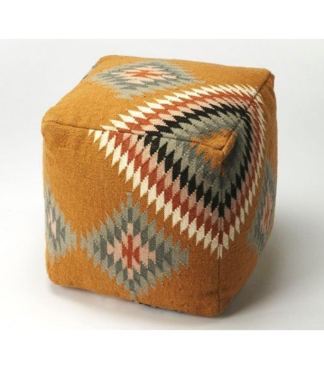 Native American Style Hopi Wool Ottoman Footstool Pouf In 2020