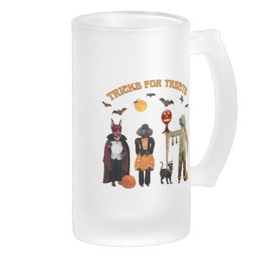 Halloween Trick or Treat Dogs Mugs