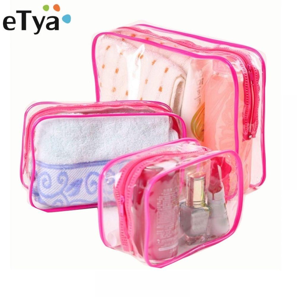 6cdda465d8a eTya Travel Clear PVC Cosmetic Bags Women Men Transparent Zipper ...